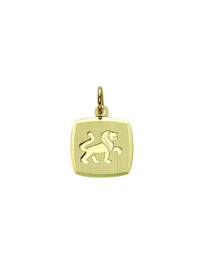 1001 Diamonds Damen & Herren Goldschmuck 333 Gold Sternzeichen Anhänger Löwe, gold