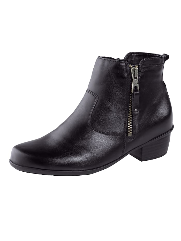 Waldläufer Ankle boots with a removable insole, Black