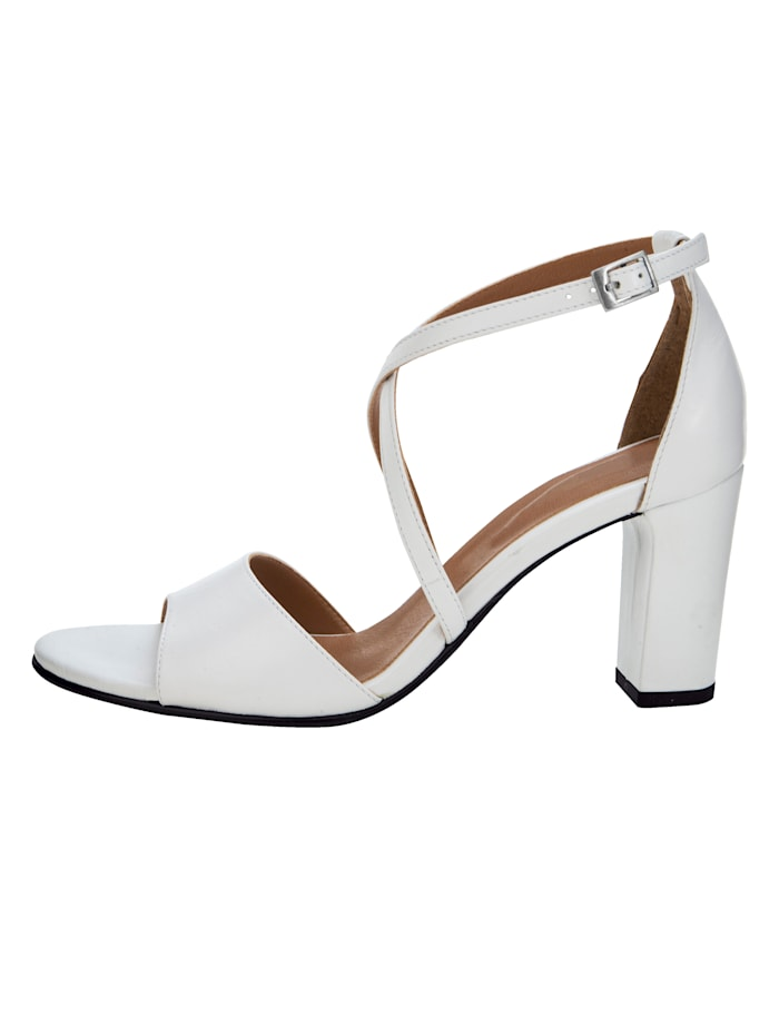 Sandale mit überkreuzter Riemchenführung