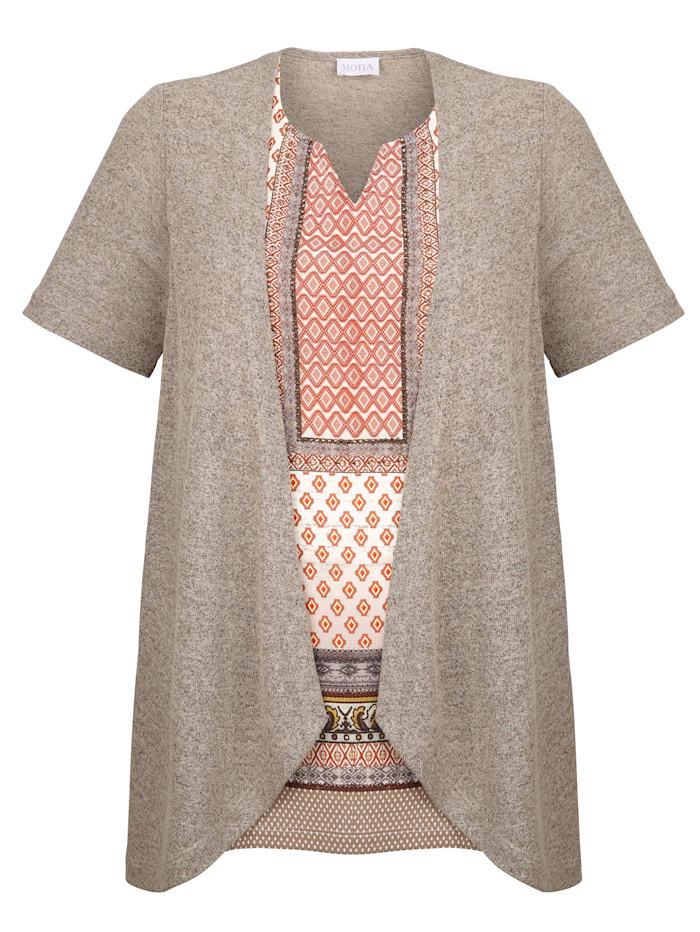 2in1-Shirt mit grafischem Dessin