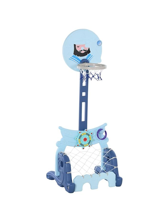 HOMCOM 4-in-1 Kinderspielset höhenverstellbar, blau