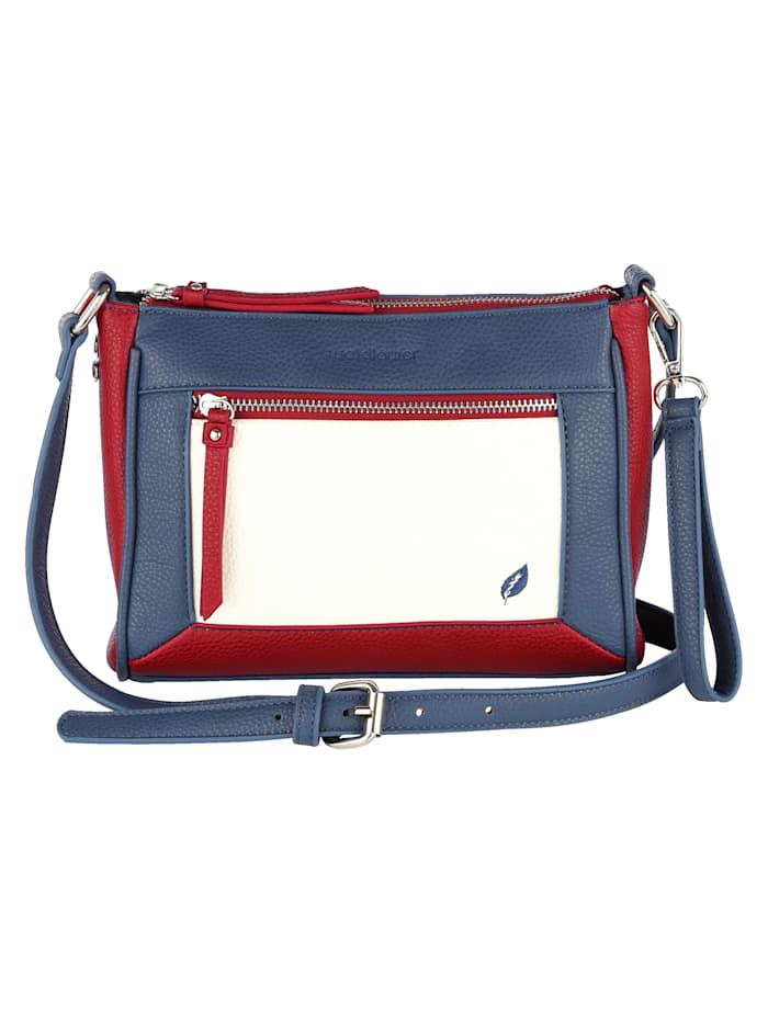 Waldläufer Shoulder Bag 4-piece, Marine-White-Red