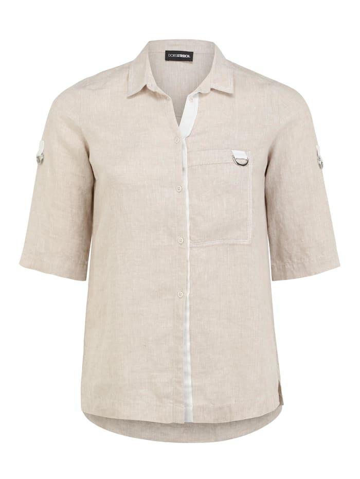 Doris Streich Bluse mit kurzen Ärmeln, savanne