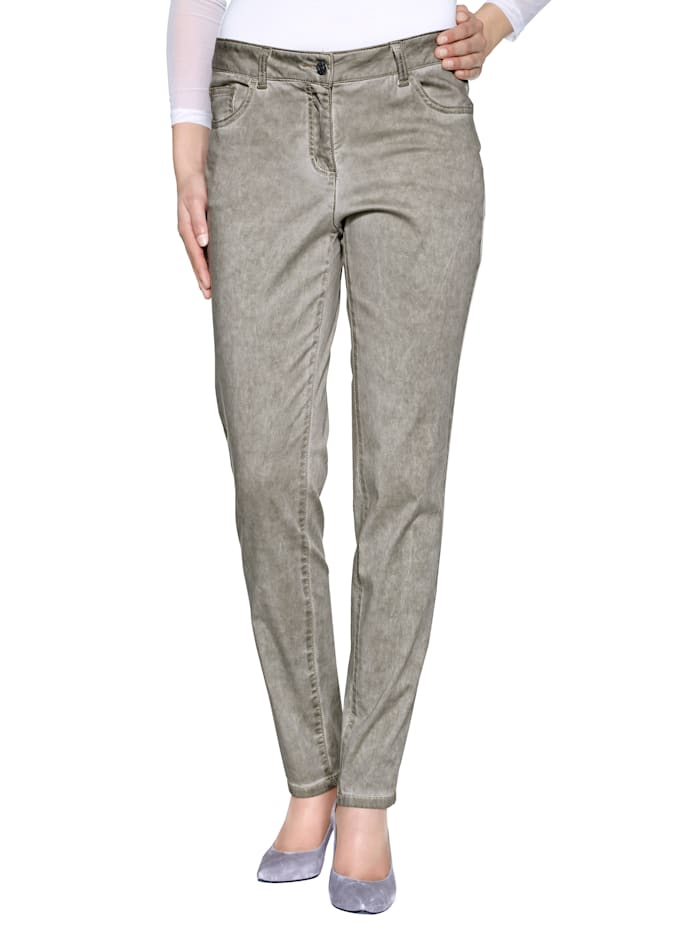 AMY VERMONT Broek in smal model, Taupe
