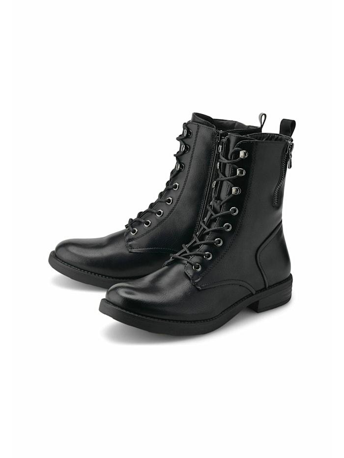 COX Schnür-Stiefeletten Schnür-Boots, schwarz