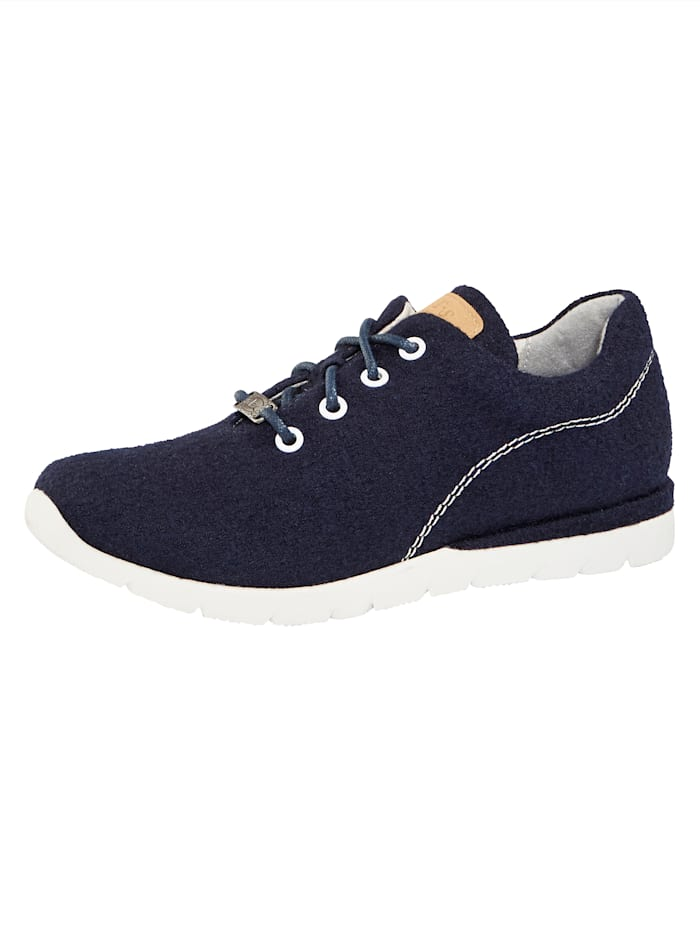 Jana Sneaker aus hochwertiger Merino-Wolle, Marineblau
