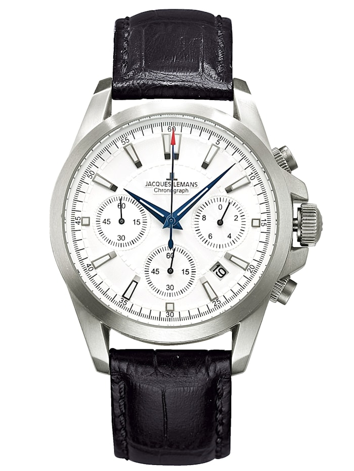 Jacques Lemans Herren-Chronograph Uhr 1-1703B, Schwarz