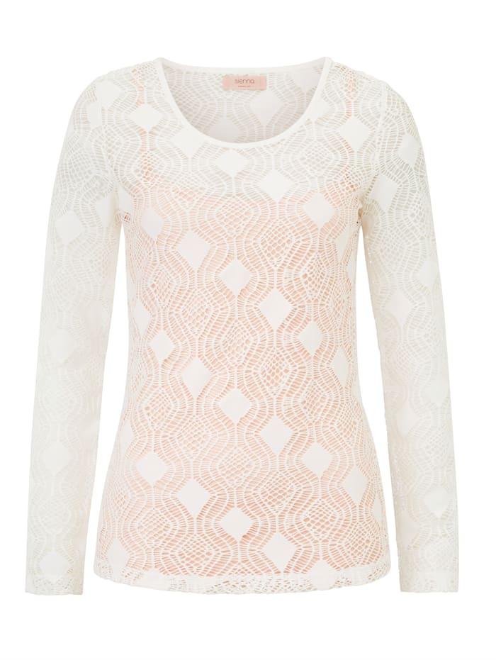 SIENNA Shirt, Creme-Weiß