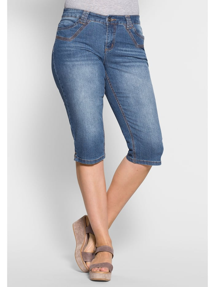 Sheego Sheego Capri-Jeans, blue Denim
