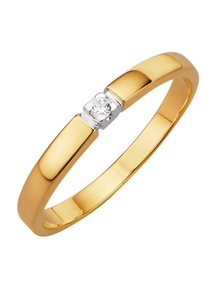 Amara Highlights Damenring mit Diamant, Gelbgoldfarben