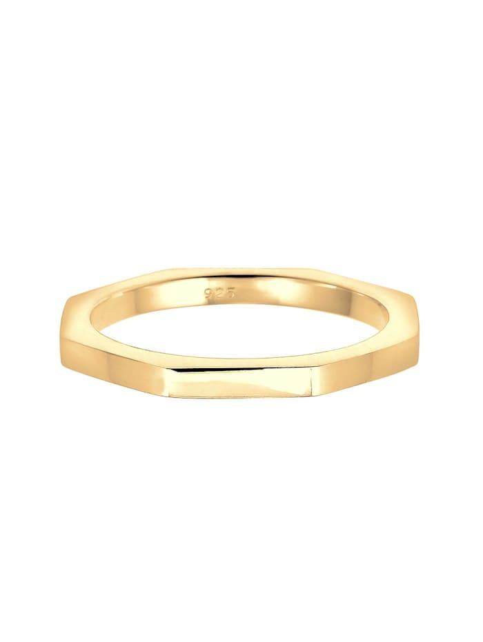 Ring Hexagon Geo Minimal 925 Sterling Silber