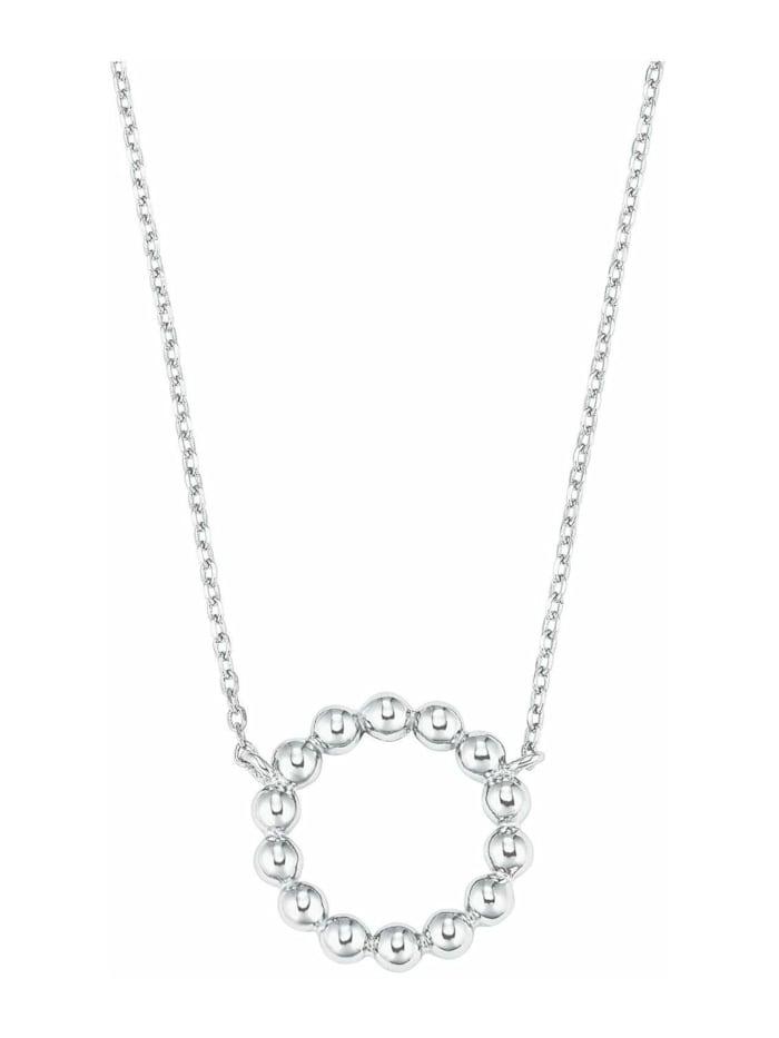 amor Kette mit Anhänger für Damen, Sterling Silber 925, Kreis, Silber
