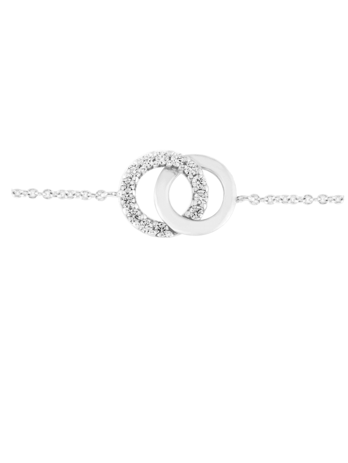Armband Kreise, Zirkonia Steine, glanz, Silber 925