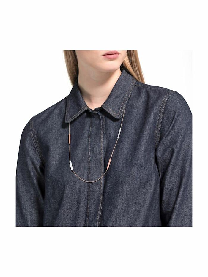 Halskette für Damen, Edelstahl IP Rose bicolor