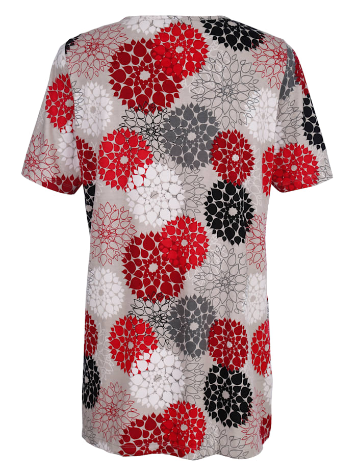 T-shirt long dans une belle assocation de couleurs