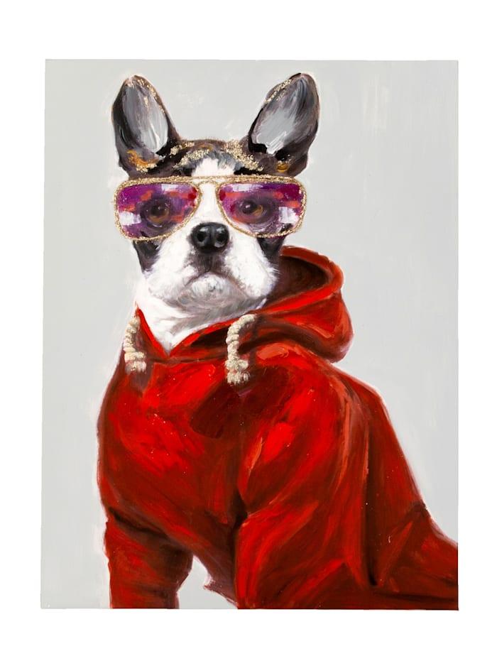 IMPRESSIONEN living Bild, Bulldogge, Multicolor