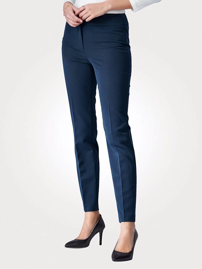 Artigiano Trousers with elastane, Navy