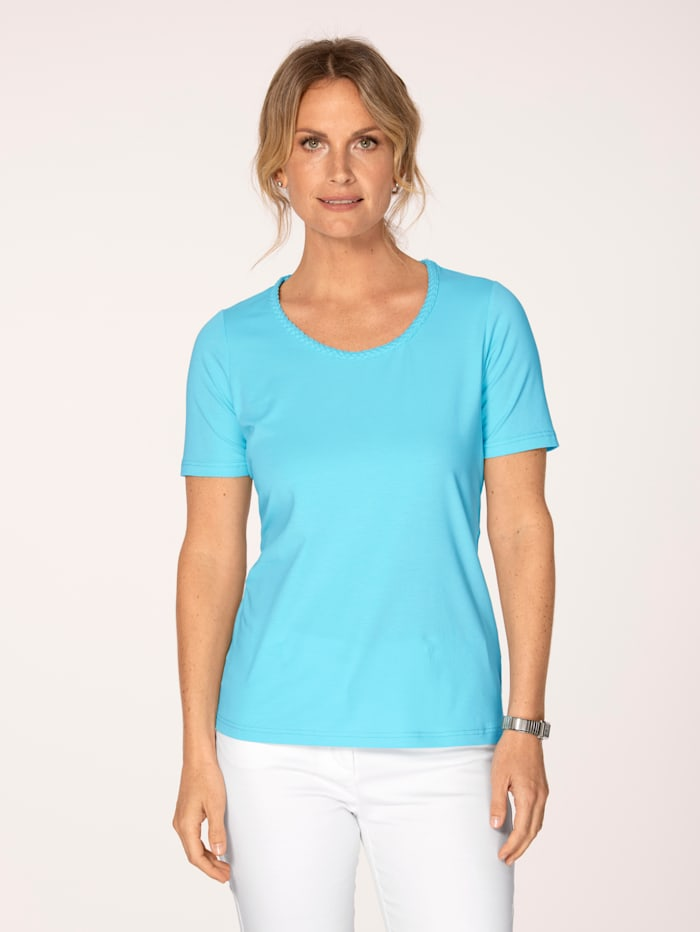 MONA T-shirt en coton pima, Turquoise
