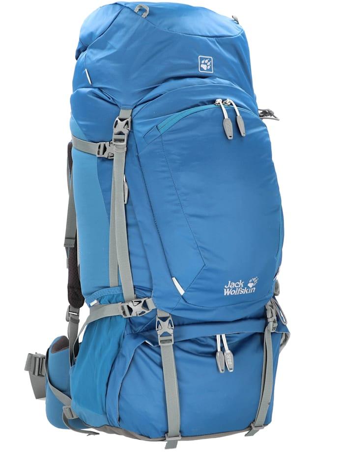 Jack Wolfskin Denali 65 Rucksack 89 cm Schlüsselhalter, Regenüberzug, Organizer, poseidon blue