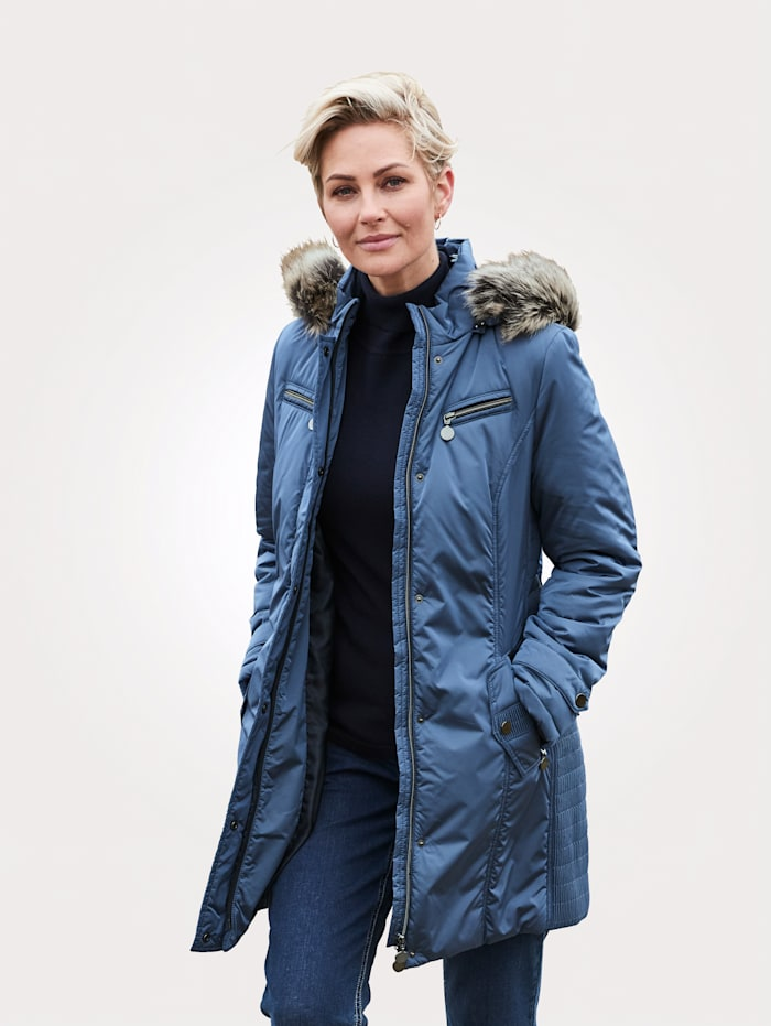 MONA Jacke mit abzippbarer Kapuze, Blau