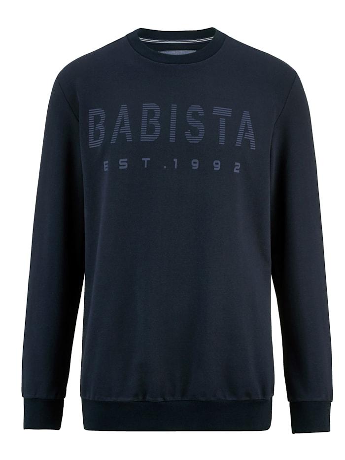 BABISTA Sweat-shirt à intérieur très doux, Marine