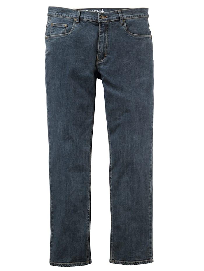 Men Plus Jeans met stretch, Dark blue