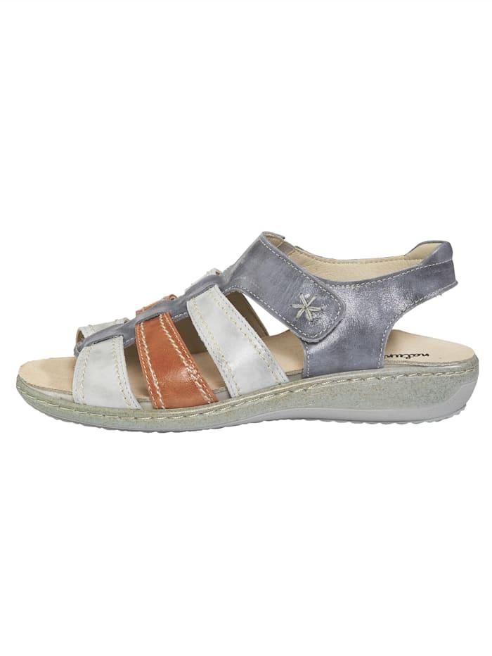 Sandale mit verstellbarem Klettriemen