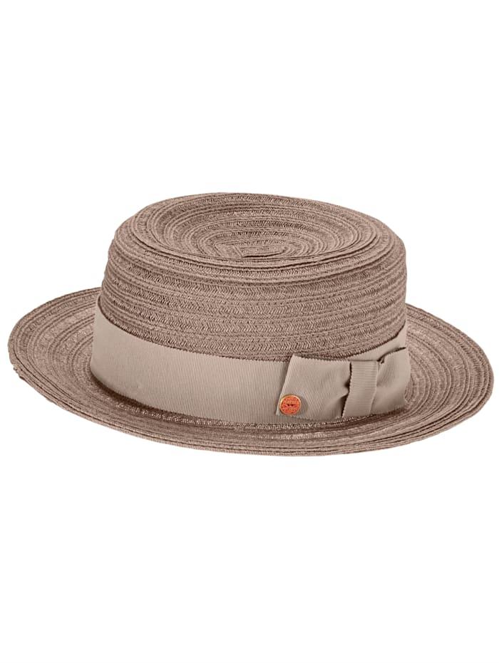 Chapeau à galon tressé