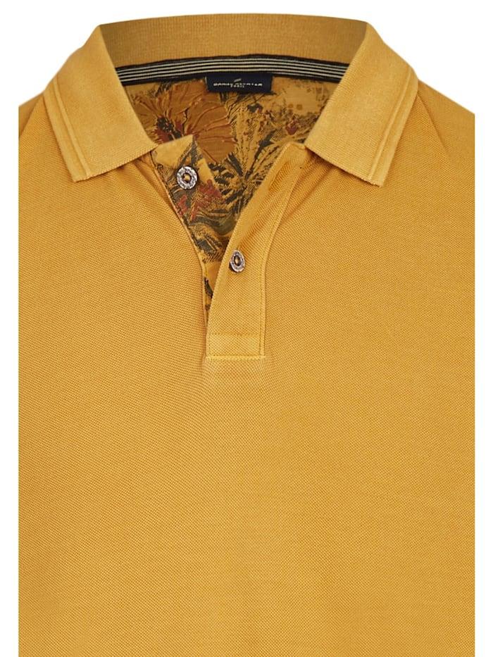 Polo-Shirt mit Struktur-Kragen