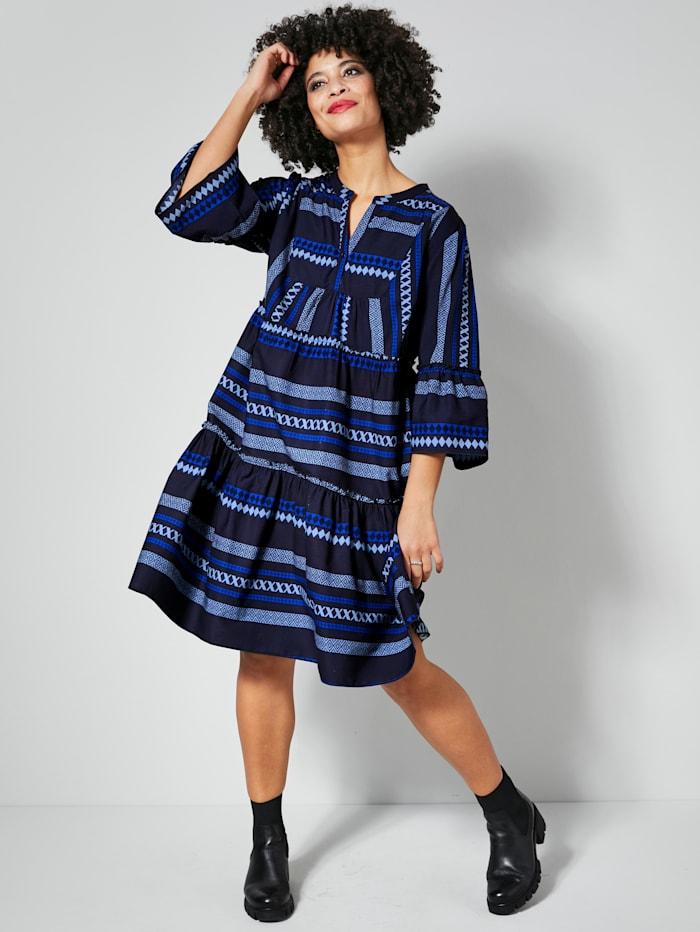 Angel of Style Kleid mit Volants, Marineblau/Royalblau