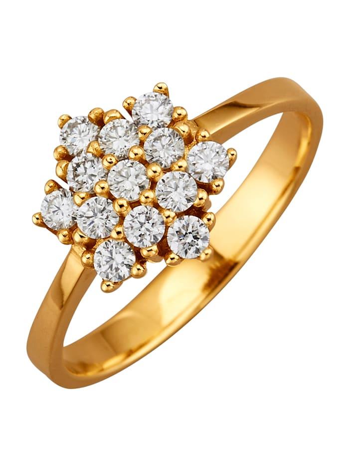 Diemer Diamant Damenring, Weiß