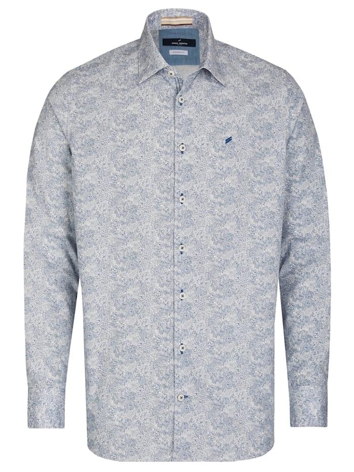 Daniel Hechter Hemd mit floralem Artischockendruck, sky blue