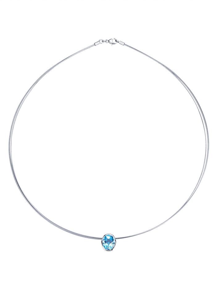 Gemondo 3-rijig collier, Blauw