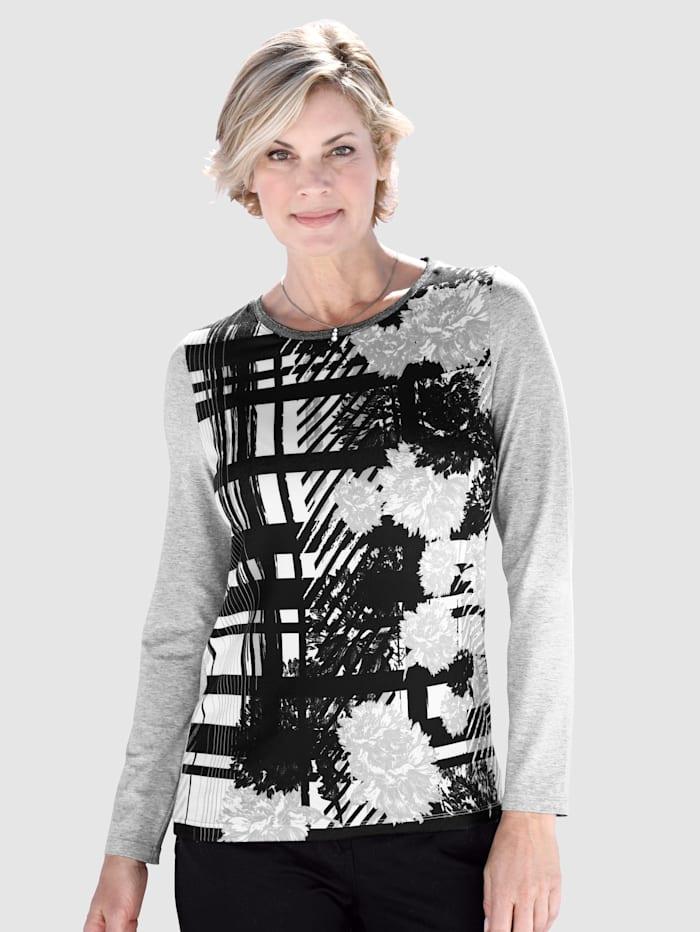 Paola Shirt mit grafischem Druck, Grau