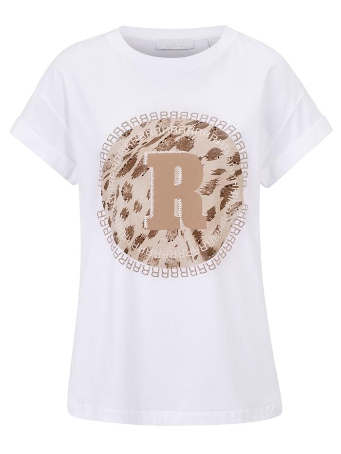 rich&royal T-Shirt mit Aufdruck, Off-white