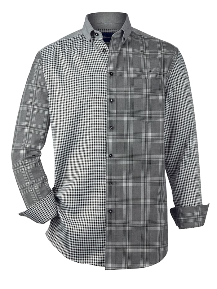 Overhemd in patchworklook