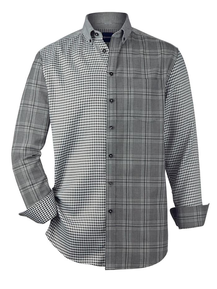 BABISTA Overhemd in patchworklook, Zwart/Wit