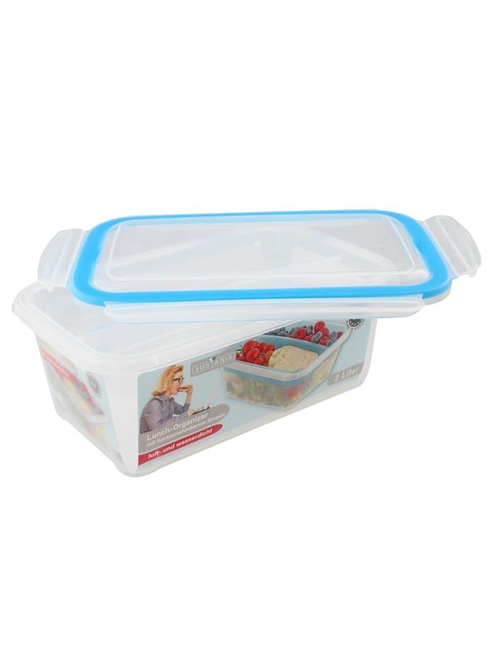 Neuetischkultur Lunchbox mit Einsatz Sustania, Transparent, Türkis