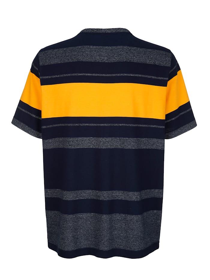 Shirt met ingebreid streeppatroon rondom