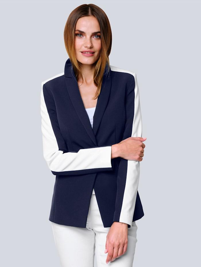 Alba Moda Blazer mit Kontraststreifen, Marineblau/Weiß