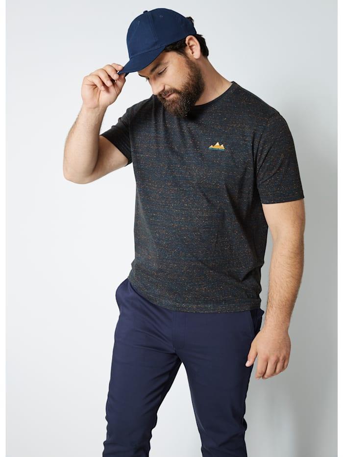 Men Plus T-shirt van sneldrogend materiaal, Marine/Petrol