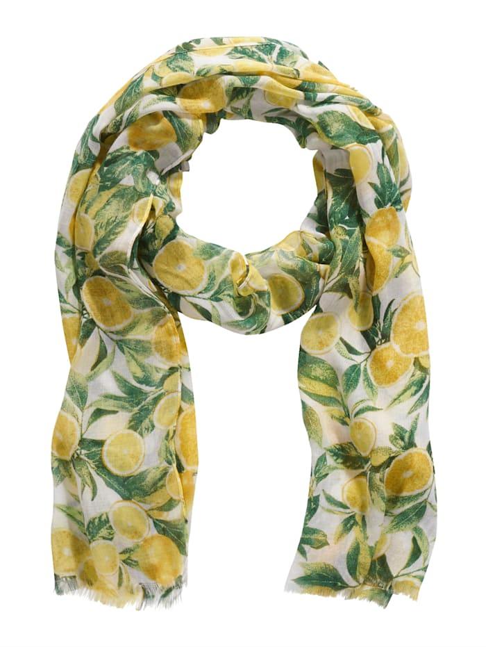 SIENNA Schal, gelb/ grün
