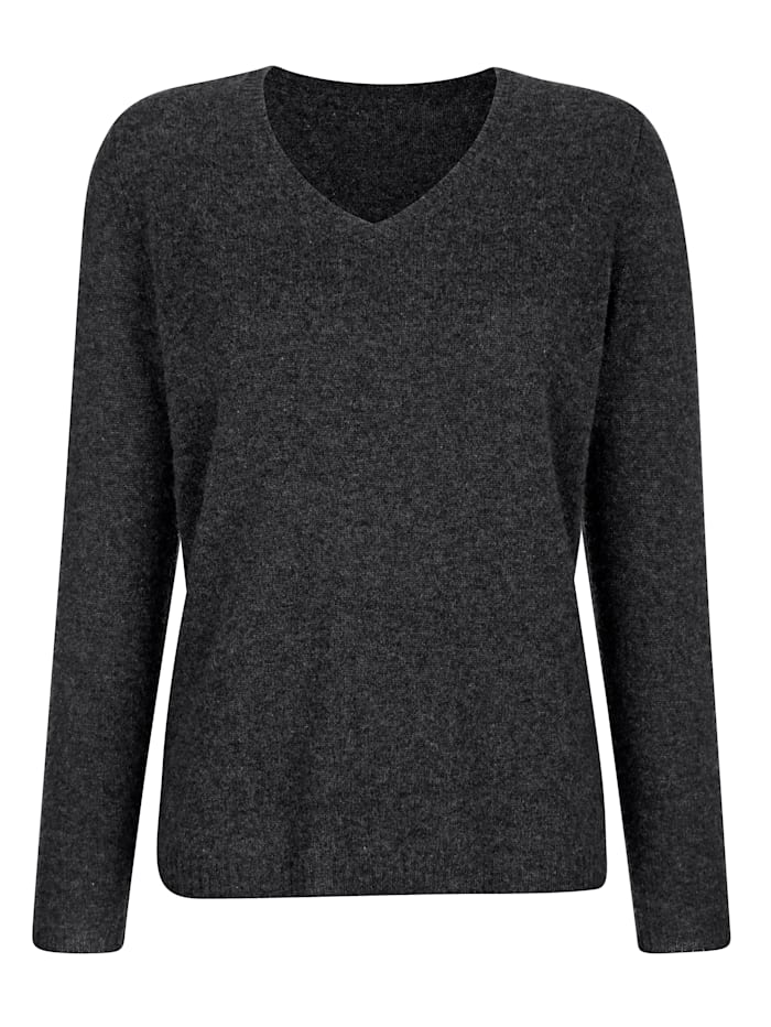 MONA Pull-over en pur cachemire, Anthracite