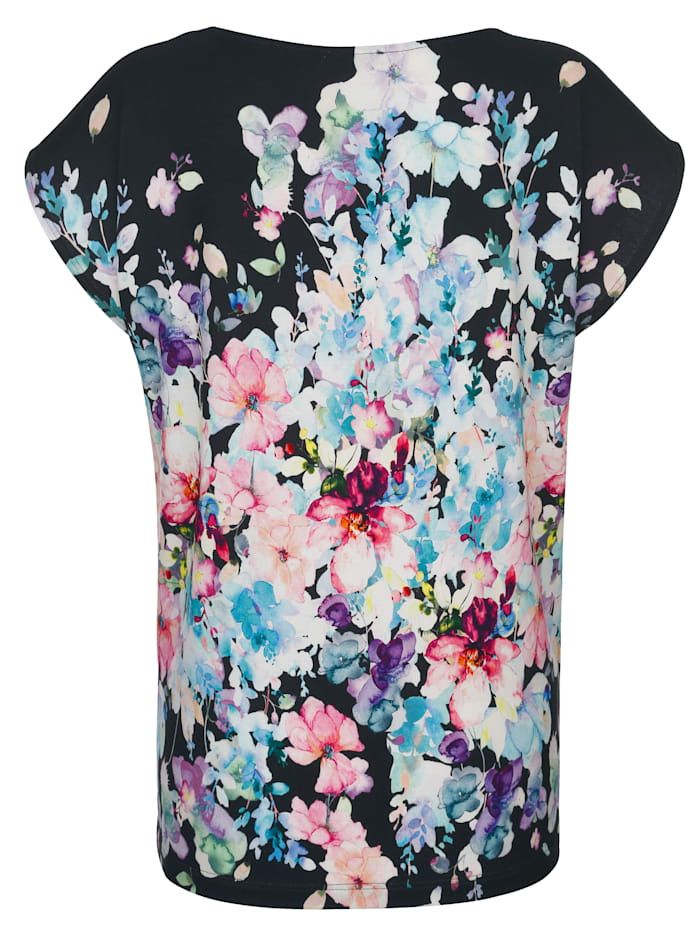 Strandshirt mit Aquarellblumen