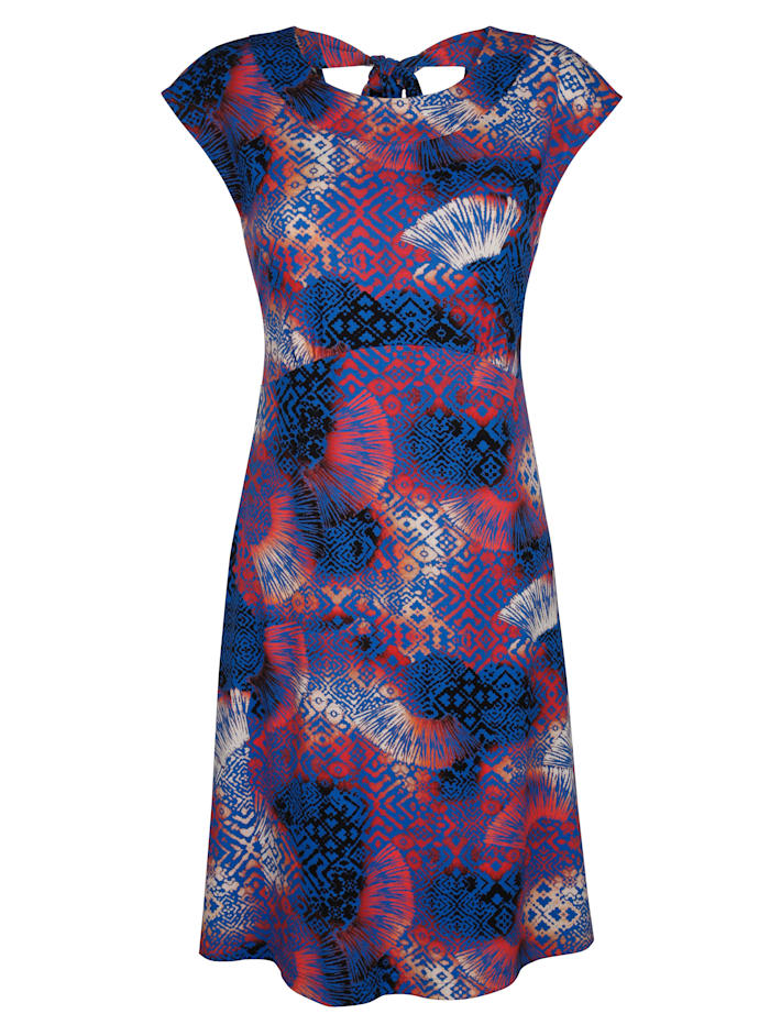 Alba Moda Strandkleid mit Schleife im Rücken, Blau-Bunt