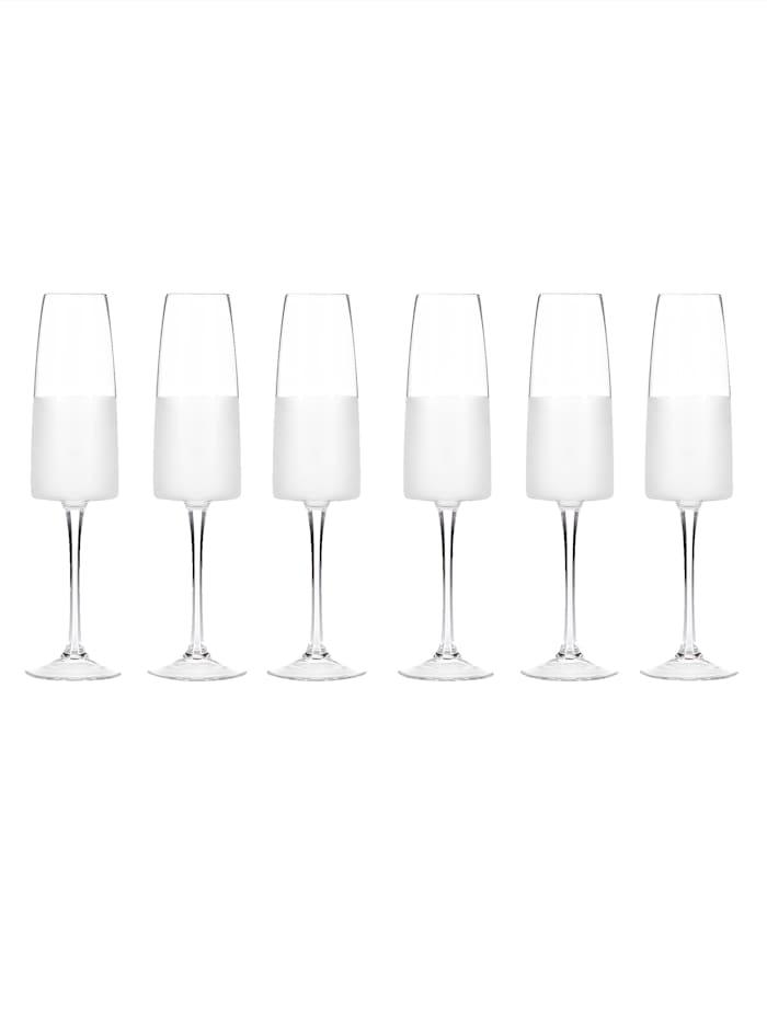 IMPRESSIONEN living Sektglas-Set, 6-tlg., Transparent/Weiß