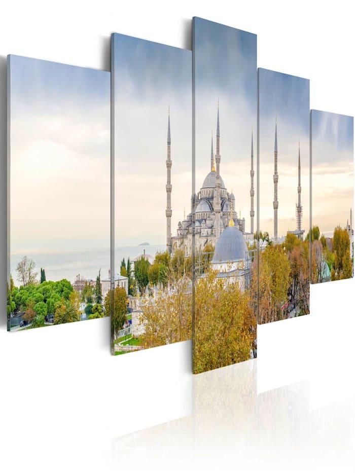 artgeist Wandbild Hagia Sophia - Istanbul, Türkei, Braun,Grün,Himmelblau,Weiß,Grau