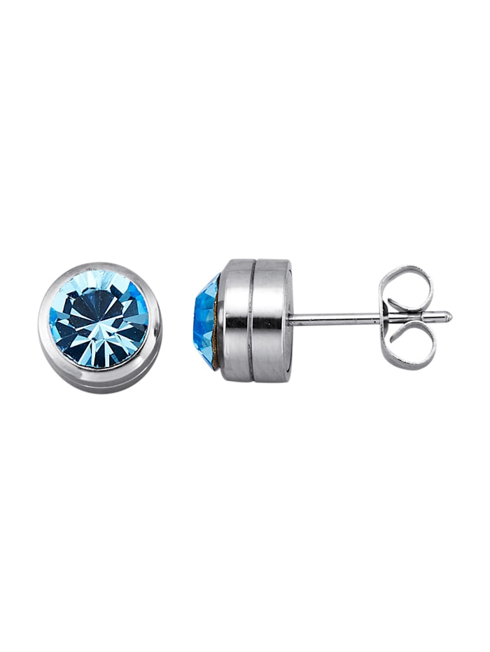 Magnetic Balance Ohrstecker, Edelstahl, Blau