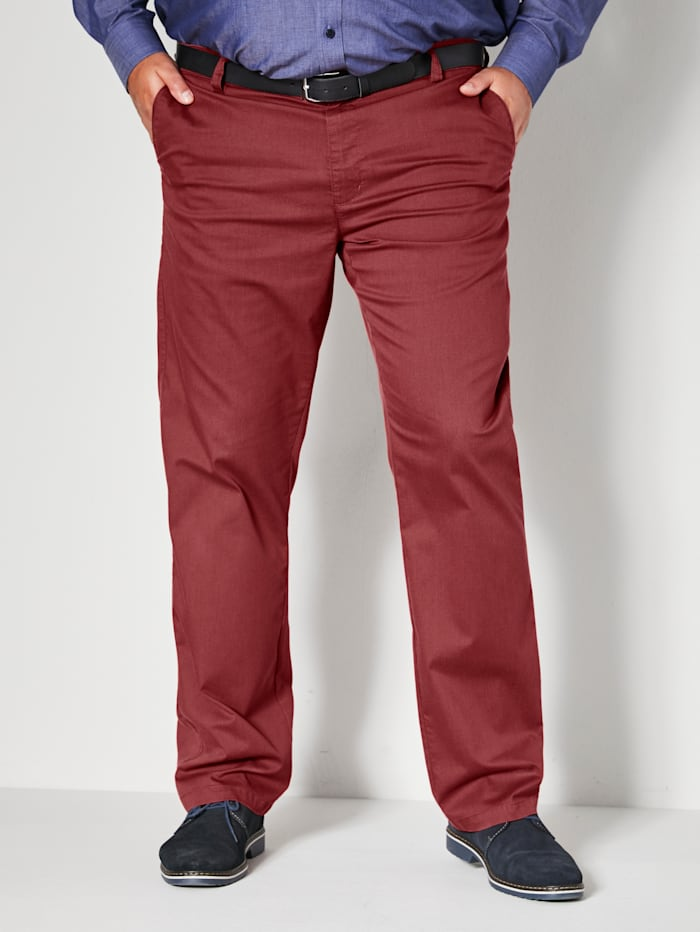 Men Plus Chino Straight Fit, Rot