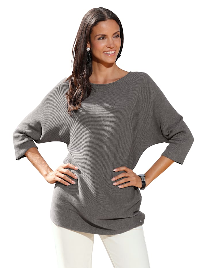 AMY VERMONT Trui in lang model, Taupe